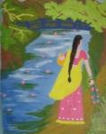 Girl in Monet's Garden